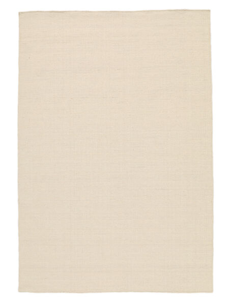Kilim Loom - Natural Rug 300X400 Authentic  Modern Handwoven White/Creme/Beige/Light Grey Large (Wool, India)