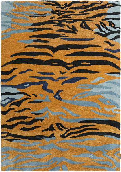 Love Tiger - Orange/Grey Rug 160X230 Modern Light Brown/Black ( India)