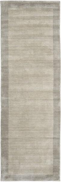 Handloom Frame - Greige Rug 80X350 Modern Hallway Runner  Light Grey (Wool, India)