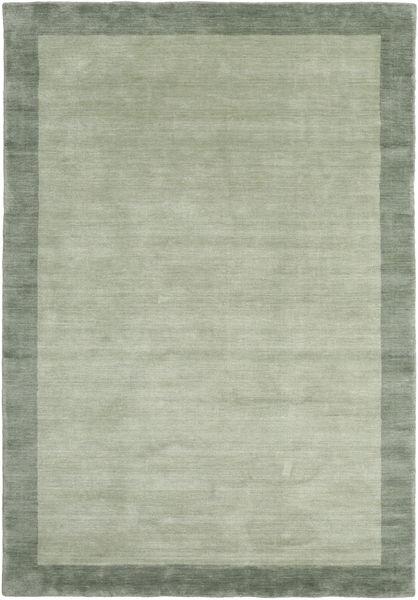 Handloom Frame - Grey/Green Rug 160X230 Modern Light Green/Pastel Green (Wool, India)