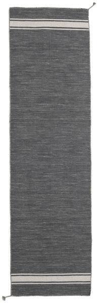 Ernst - Dark Grey/Light Beige Rug 80X300 Authentic  Modern Handwoven Hallway Runner  Dark Grey (Wool, India)