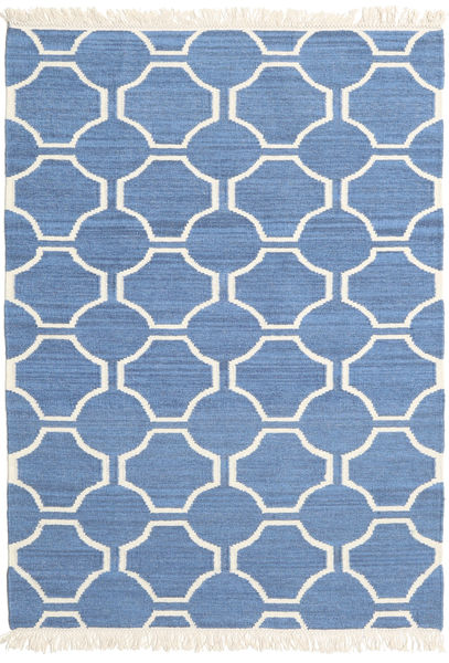 London - Blue/Off White Rug 120X180 Authentic  Modern Handwoven Blue/Beige (Wool, India)