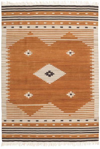 Tribal - Mustard Rug 140X200 Authentic  Modern Handwoven Brown/Light Brown (Wool, India)