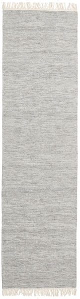 Melange - Grey Rug 80X300 Authentic  Modern Handwoven Hallway Runner  Light Grey (Wool, India)