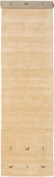 Gabbeh Loom Two Lines - Beige Rug 80X450 Modern Hallway Runner  Light Brown/Beige (Wool, India)