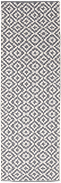 Torun - Grey/Neutral Rug 80X300 Authentic  Modern Handwoven Hallway Runner  Light Grey/Light Purple (Cotton, India)