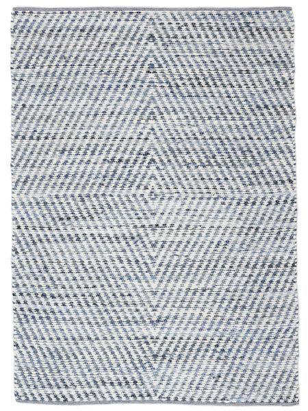 Hilda - Denim/White Rug 170X240 Authentic  Modern Handwoven Beige/Light Blue (Cotton, India)
