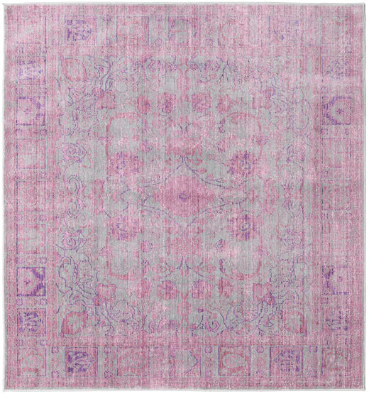 Maharani - Grey/Pink Rug 200X200 Modern Square Light Pink/Light Grey ( Turkey)