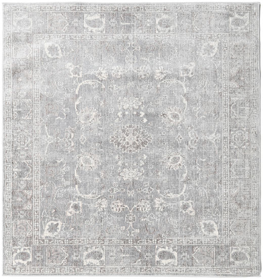 Maharani - Grey Rug 200X200 Modern Square Light Grey ( Turkey)