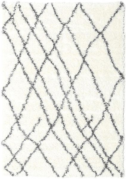 Shaggy Tangier - White/Dark Grey Rug 160X230 Modern Beige/Light Grey ( Turkey)
