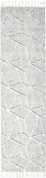 Scandic Rug 80X300 Modern Hallway Runner  Light Grey/White/Creme ( Turkey)