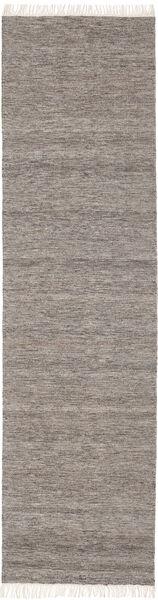Melange - Brown Rug 80X250 Authentic  Modern Handwoven Hallway Runner  Light Grey/Dark Grey (Wool, India)