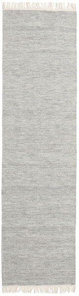 Melange - Grey Rug 80X400 Authentic  Modern Handwoven Hallway Runner  Light Grey (Wool, India)