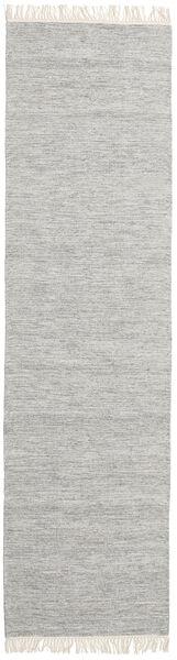 Melange - Grey Rug 80X250 Authentic  Modern Handwoven Hallway Runner  Light Grey (Wool, India)