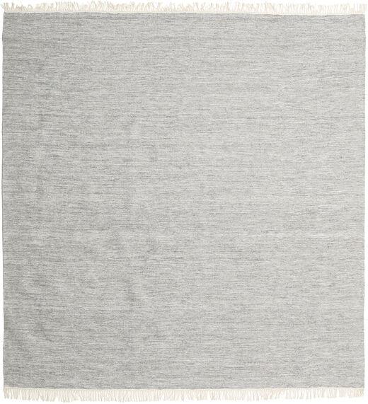 Melange - Grey Rug 300X300 Authentic  Modern Handwoven Square Light Grey Large (Wool, India)