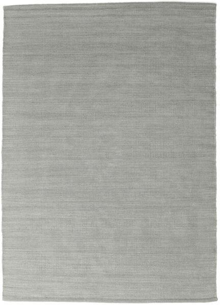Kilim Loom - Grey Rug 140X200 Authentic  Modern Handwoven Turquoise Blue/Light Grey (Wool, India)