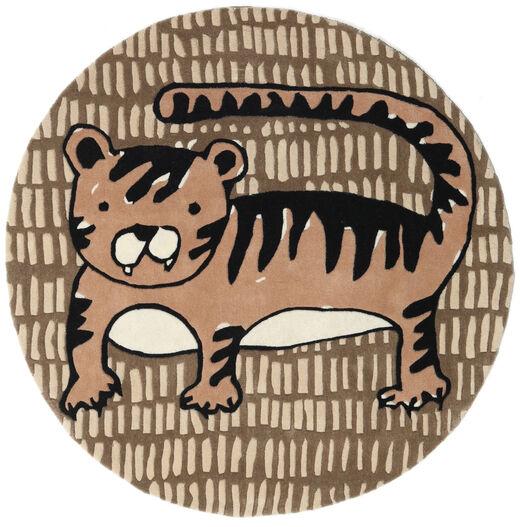 Cool Cat - Beige Rug Ø 150 Modern Round Brown/Light Brown (Wool, India)