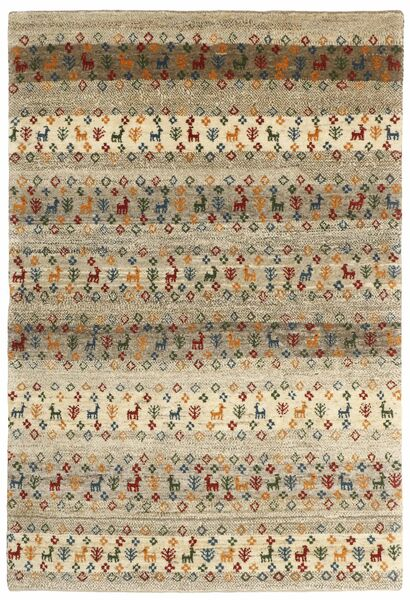 Gabbeh Persia Rug 129X190 Authentic  Modern Handknotted Light Brown/Light Grey (Wool, Persia/Iran)