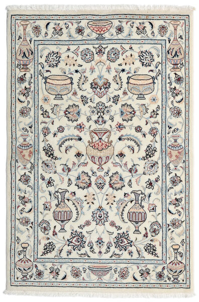 Kashmar Rug 101X154 Authentic  Oriental Handknotted Light Grey/White/Creme (Wool, Persia/Iran)