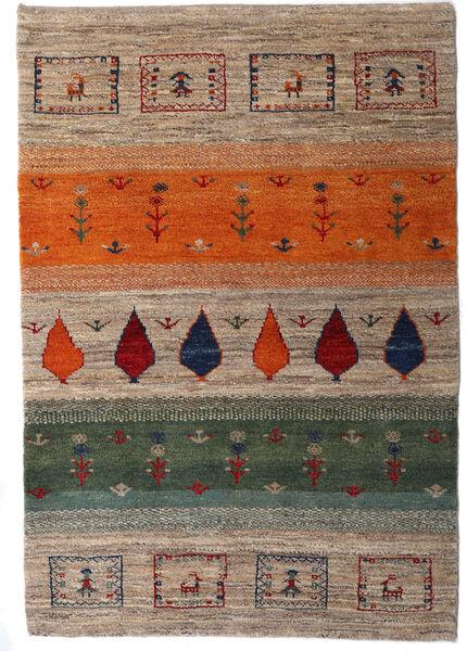 Loribaft Persia Rug 105X154 Authentic  Modern Handknotted Light Grey/Dark Grey (Wool, Persia/Iran)