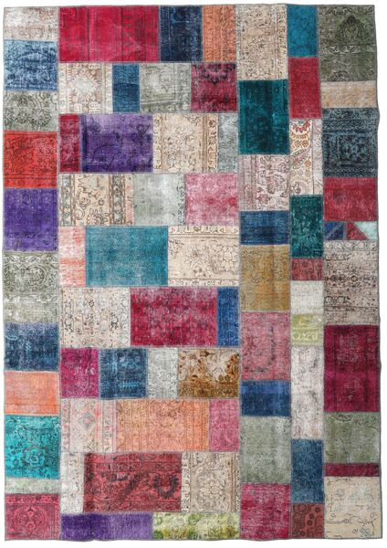 Patchwork - Persien/Iran Rug 245X347 Authentic  Modern Handknotted Light Grey/Blue (Wool, Persia/Iran)