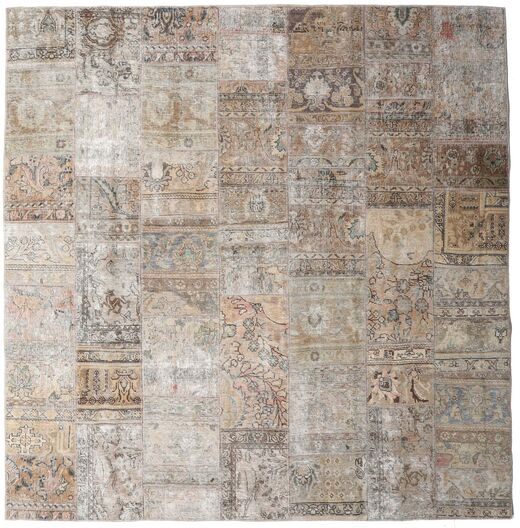 Patchwork - Persien/Iran Rug 252X256 Authentic  Modern Handknotted Square Light Grey Large (Wool, Persia/Iran)