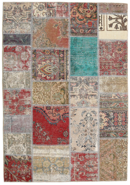 Patchwork - Persien/Iran Rug 141X203 Authentic  Modern Handknotted Light Grey/Brown (Wool, Persia/Iran)