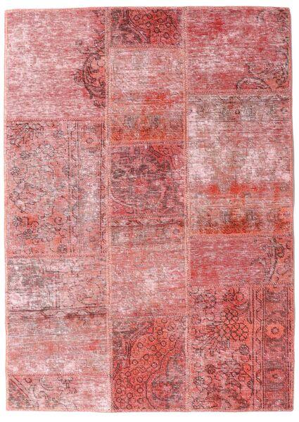 Patchwork - Persien/Iran Rug 107X151 Authentic  Modern Handknotted Light Pink/Dark Red (Wool, Persia/Iran)