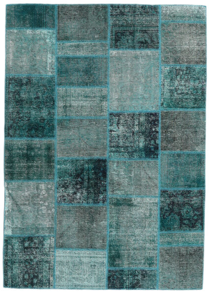 Patchwork - Persien/Iran Rug 167X236 Authentic  Modern Handknotted Turquoise Blue/Dark Turquoise   (Wool, Persia/Iran)