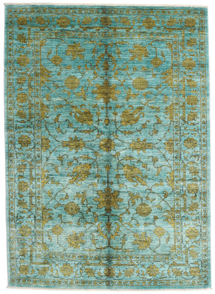 Mirage Rug 149X210 Authentic  Modern Handknotted Turquoise Blue (Wool, Afghanistan)