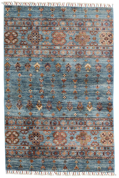 Shabargan Rug 101X156 Authentic  Modern Handknotted Blue/Light Brown (Wool, Afghanistan)