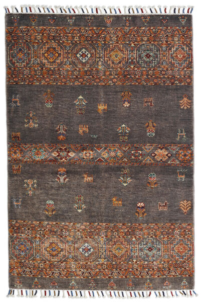 Shabargan Rug 99X147 Authentic  Modern Handknotted Brown/Light Brown (Wool, Afghanistan)