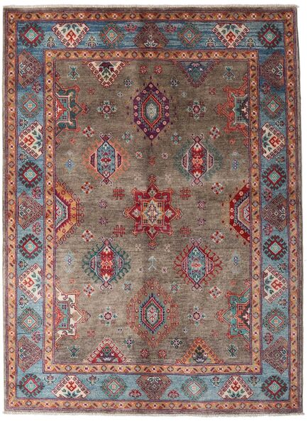 Kazak Rug 146X199 Authentic  Oriental Handknotted Dark Red/Dark Brown (Wool, Afghanistan)