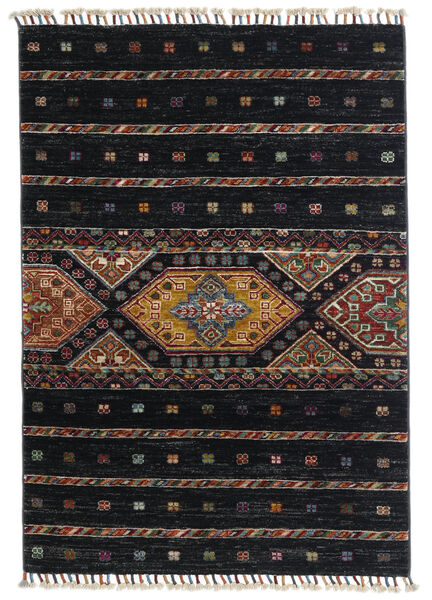 Shabargan Rug 87X124 Authentic  Modern Handknotted Black/Dark Grey (Wool, Afghanistan)
