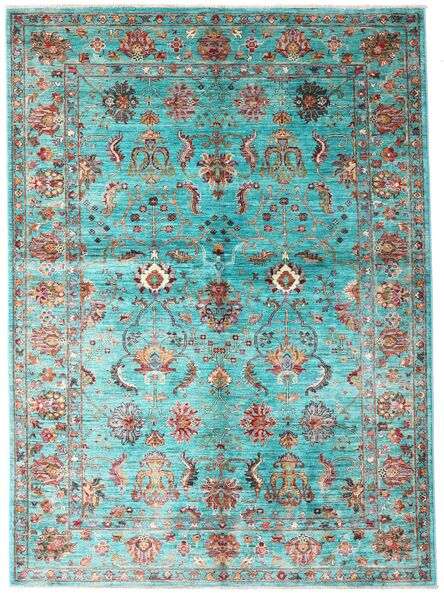 Mirage Rug 154X210 Authentic  Modern Handknotted Turquoise Blue/Dark Green (Wool, Afghanistan)