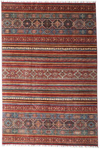 Shabargan Rug 204X304 Authentic  Modern Handknotted Dark Red/Dark Brown (Wool, Afghanistan)