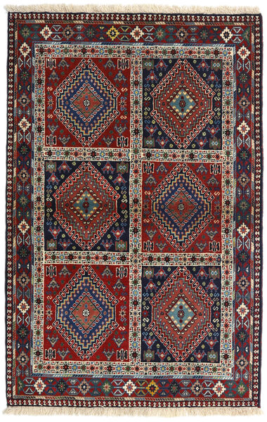 Yalameh Rug 102X158 Authentic  Oriental Handknotted Dark Grey/Dark Brown (Wool, Persia/Iran)