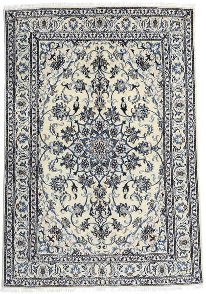 Nain Rug 166X240 Authentic  Oriental Handknotted White/Creme/Black (Wool, Persia/Iran)
