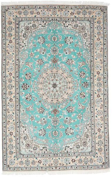 Nain 9La Rug 157X244 Authentic  Oriental Handknotted Light Grey/White/Creme (Wool/Silk, Persia/Iran)