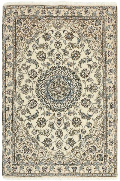 Nain 9La Rug 98X152 Authentic  Oriental Handknotted Beige/Light Grey (Wool/Silk, Persia/Iran)