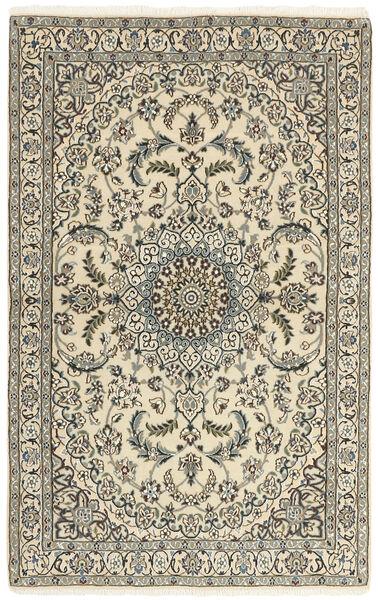 Nain 9La Rug 114X184 Authentic  Oriental Handknotted Beige/Dark Grey (Wool/Silk, Persia/Iran)