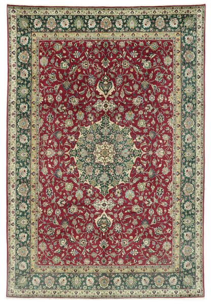 Tabriz 50 Raj Rug 245X362 Authentic  Oriental Handknotted Dark Grey/Dark Red (Wool, Persia/Iran)