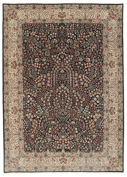 Kerman Lavar Rug 250X348 Authentic  Oriental Handknotted Light Grey/Black Large (Wool/Silk, Persia/Iran)