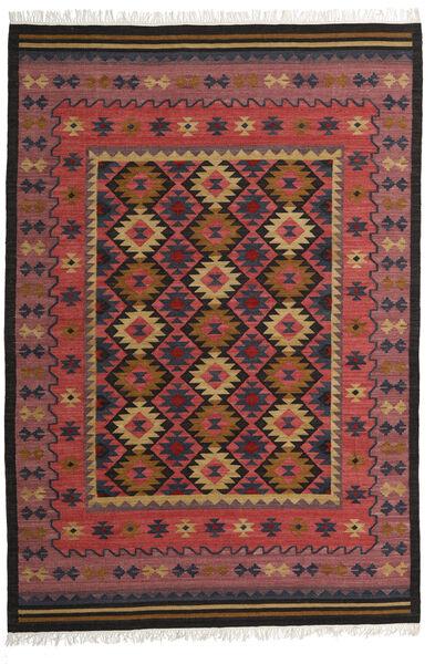 Kilim Marmaris Rug 200X300 Authentic  Modern Handwoven Dark Red/Dark Brown/Black (Wool, India)