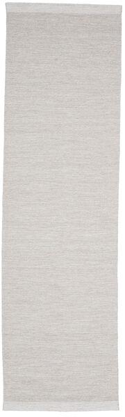 Serafina - Beige_Melange Rug 100X450 Authentic  Modern Handwoven Hallway Runner  Light Grey (Wool, India)