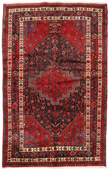 Toiserkan Rug 154X244 Authentic  Oriental Handknotted Dark Red/Dark Brown (Wool, Persia/Iran)