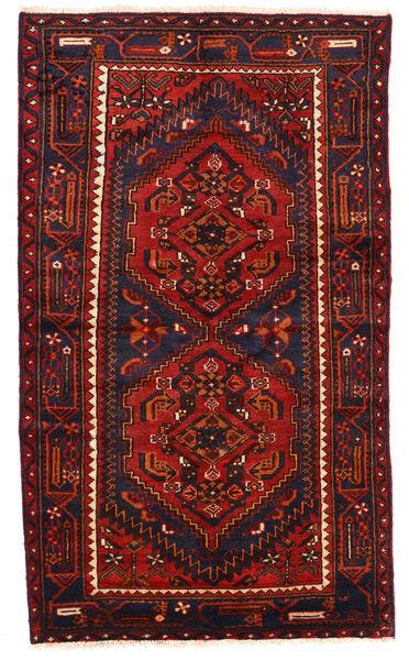 Zanjan Rug 124X211 Authentic  Oriental Handknotted Dark Brown/Dark Red (Wool, Persia/Iran)