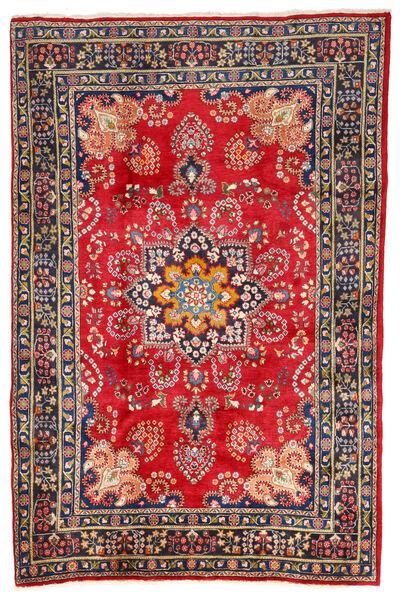 Mashad Rug 196X288 Authentic  Oriental Handknotted Dark Grey/Rust Red (Wool, Persia/Iran)