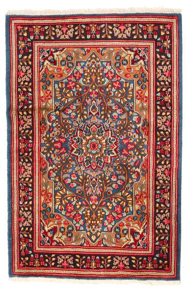 Kerman Rug 121X185 Authentic  Oriental Handknotted Crimson Red/Dark Red (Wool, Persia/Iran)