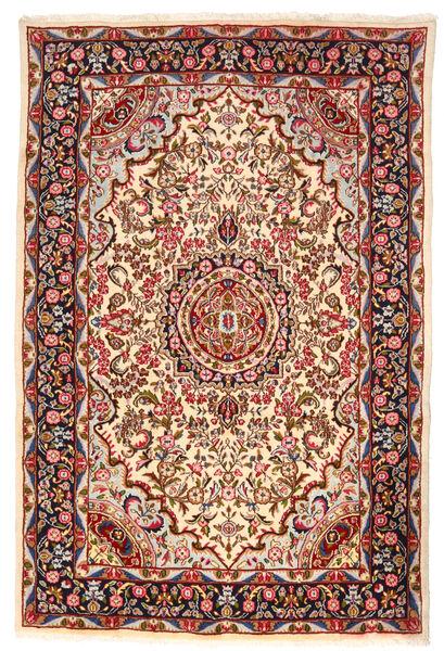 Kerman Rug 193X290 Authentic  Oriental Handknotted Beige/Dark Red (Wool, Persia/Iran)